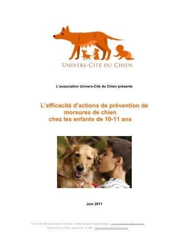 L'efficacité d'actions de prévention de morsures de chien chez les ...