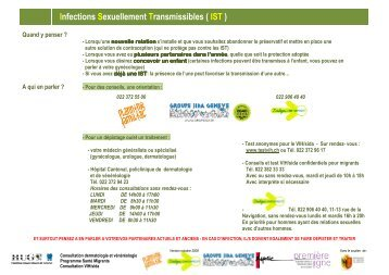 Infections Sexuellement Transmissibles ( IST - Planning familial
