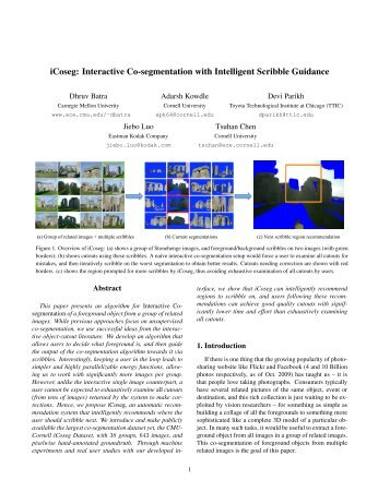 iCoseg: Interactive Co-segmentation with Intelligent Scribble Guidance