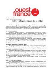 11-Novembre : hommage à nos soldats - Ecole de Guerre