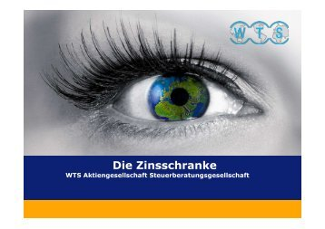 Die Zinsschranke Eigenkapitalvergleich - WTS Aktiengesellschaft ...