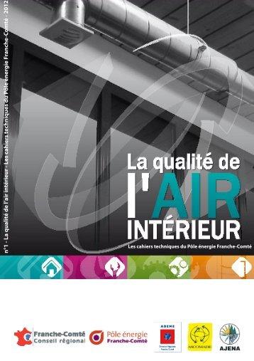 n°1 - La qualité de l'air in térieur - Les cahiers techniques du P ôle ...