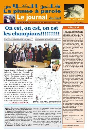 Le journal du liad - Lycée International Alexandre Dumas