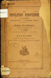 POPULATION EUROPEENNE