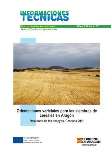 Orientaciones varietales para las siembras de cereales en Aragón