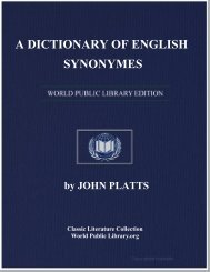 A DICTIONARY OF ENGLISH SYNONYMES - World eBook Library