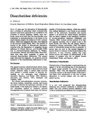 Disaccharidase deficiencies - Journal of Clinical Pathology