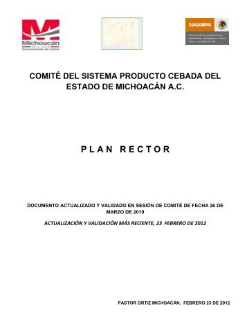 plan rector cebada - Campo Mexicano