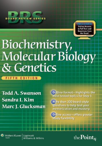 044-BRS Biochemistry, Molecular Biology, and Genetics, Fifth Edition
