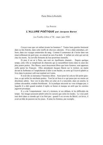 Ecrits de Drieu 1924-1926 (pdf 13 pages)