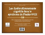 Les dysfonctionnements cognitifs dans le syndrome de ... - irnha