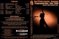 Bar Ô Crée Louche - Engomer Programme Nov. / Déc. 2009