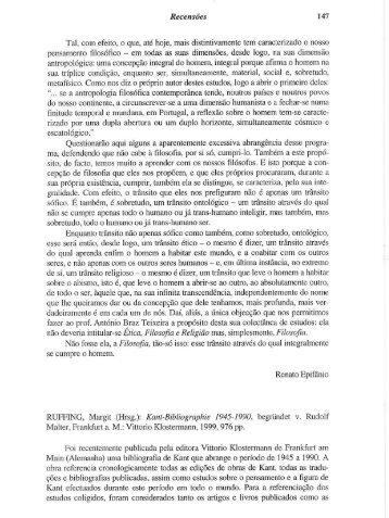 Recensões 147 - Centro de Filosofia