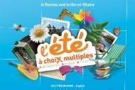 Livret ete in rennes 2012-EN.indd - Office de Tourisme de Rennes ...