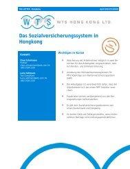 Das Sozialversicherungssystem in Hongkong