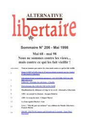 Sommaire N° 206 - Mai 1998 Mai 68 - mai 98 Nous ne ... - Anarchie.be