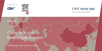 Clean Tech und Erneuerbare Energien - CHINA TIME Hamburg ...