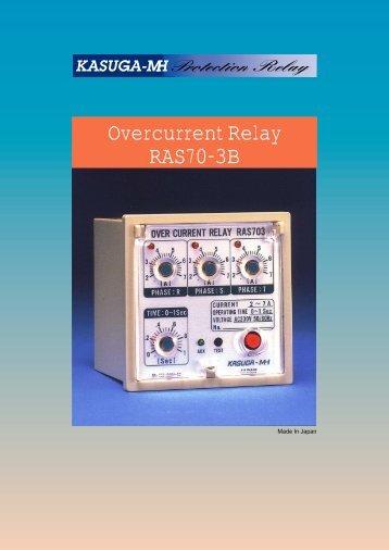 Overcurrent Relay RAS70-3B - Industrial X Supply Co.,Ltd. Website