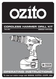 OPERATING INSTRUCTIONS www.ozito.com.au