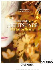 Cremer Andrea - Le Duel Des Alphas - Nightshade T3 - Index of
