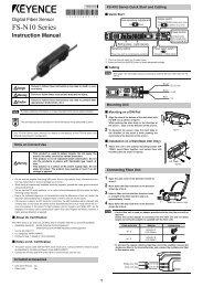 Digital Fiber Sensor FS-N10 Series Instruction Manual 96M00603