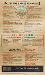 frites folie - Jack Astor's Bar & Grill