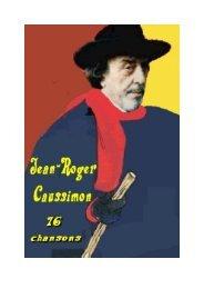 Caussimon JR - textes de chansons - Poètes vos PDF