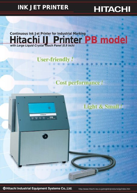 Hitachi IJ Printer PB Model