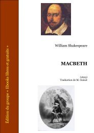 Macbeth Shakespeare - CRDP de l'Académie de Strasbourg