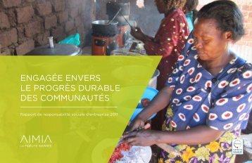Rapport annuel 2011 : vocation sociale (PDF) - Aimia