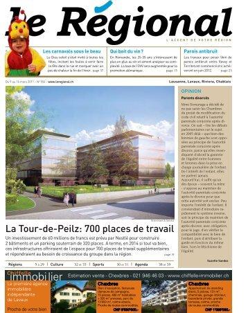 La Tour-de-Peilz: 700 places de travail - Le Régional