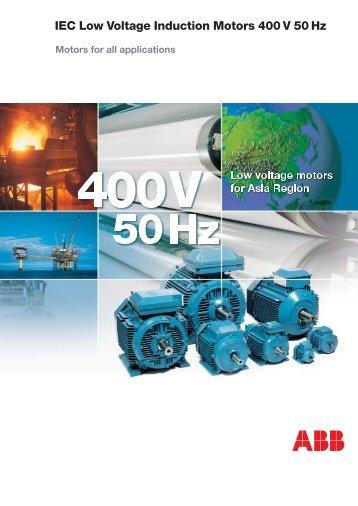 IEC Low Voltage Induction Motors 400 V 50 Hz