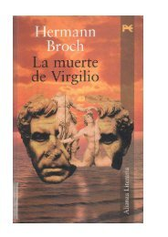 broch hermann - la muerte de virgilio
