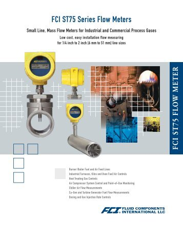 FCI ST75 Series Flow Meters - Applied Instruments