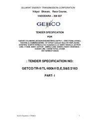 TENDER SPECIFICATION NO