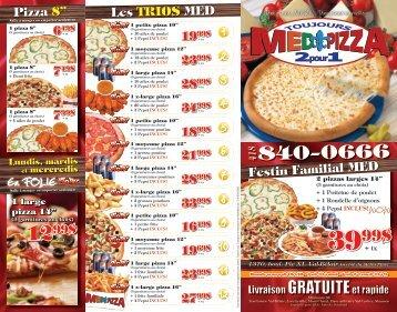 Consulter le menu en format PDF - Restaurant MED PIZZA Toujours ...