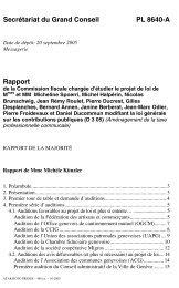 PL 8640-A - Etat de Genève