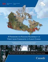 Framework for assessing vulnerability of forest-based communities ...