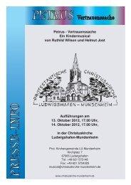 Pressemappe - Musicals und Singspiele in der Christuskirche