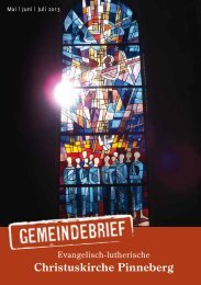 Mai, Juni, Juli 2013 - Christuskirche Pinneberg
