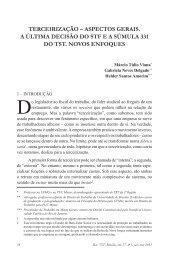 terceirização – aspectos gerais. a última decisão do stf ea ... - TST