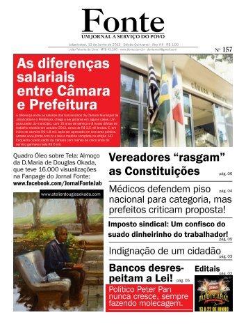 Edição 157 - Jornal Fonte