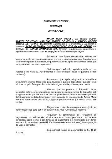 Sentença - Cuiabá - banco - sumiço de valores depositados em conta