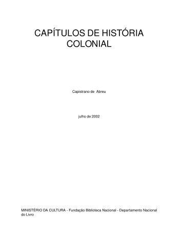 CAPÍTULOS DE HISTÓRIA COLONIAL - Emilio Miranda