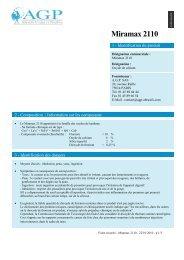 14 - Informations relatives au transport - AGP - Abrasifs, Grains et ...