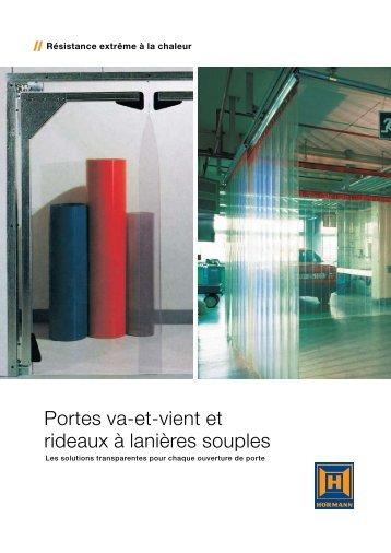 Portes va-et-vient et rideaux à lanières souples - Hormann.fr
