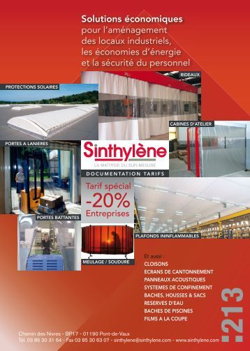 Notre catalogue - Sinthylène