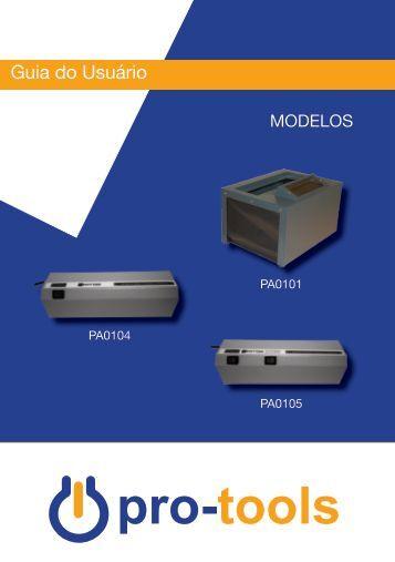 Manual Gabinete e Lanternas Pro-Tools - Pró-Análise