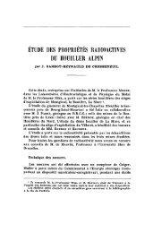étude des propriétés radioactives du houiller alpin - Revue de ...