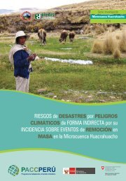 RIeSgoS de desastres por peligros cliMáticos de foRma ... - pacc